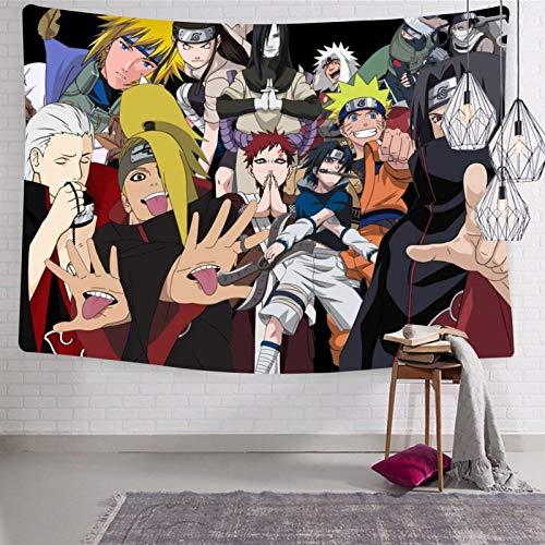 3354 Na-ru-to - Tapiz para colgar en la pared, suave y divertido, tapices para dormitorio de 127 x 127 cm