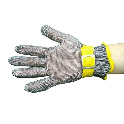 Schnittfeste Handschuhe Schneidresistente Handschuhe, Nahrungsmittel-Edelstahl-Sicherheitsarbeiten Handschuhe, Verwendet Für Lebensmittelverarbeitung Und Fleischschneiden (Size : Medium)