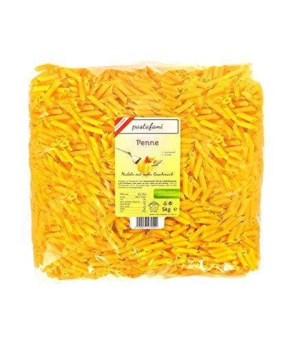 pastafani Penne 5kg - FAMILY- UND GASTRO-PACK - Regionale Nudeln aus natürlichen, qualitativ hochwertigen Zutaten ohne Aroma- oder Zusatzstoffe - Perfekte Pasta für Großverbraucher!