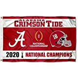 College Flags & Banners Co. Alabama Crimson Tide National Football 2020 Champions 3x5 Grommet Flag