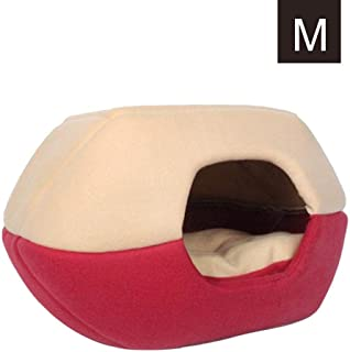 Yurt Shape Pet Cat Beds for Cats and Small Dogs Warming Comfortable Cat Igloo Bed Pet Tent House