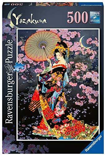 Ravensburger Puzzle 500 Pezzi, Yozakura, Jigsaw Puzzle per Adulti e Ragazzi, Puzzle Giappone, Puzzle Ravensburger - Stampa di Alta Qualità