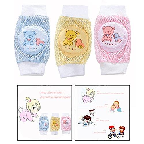 OFKPO OFKPO 3 Paar Baby Knieschoner,Einstellbare Atmungsaktive Karikatur Anti Rutsch Knieschützer für Mädchen und Jungen