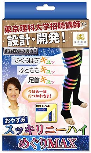 漢医美健(かんいびけん) めぐりMAX ニーハイ ソックス (M) レディース 着圧 むくみ防止