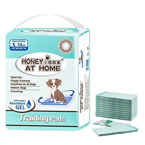 DONGQI 50 Tappetini Igienici per Cani, Training Pad Addestramento Cane, Traversine Pannolini Super Assorbenti40 cm x 60 cm Altissima qualità