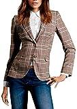 Le Donna Capi di Abbigliamento Scozzese Pulsante Vestito Slim Fit Vintage Occasionale Cach...