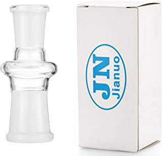 Jianuo Scientic Glass Tube Adapter, 18MM Female to 14MM Female Essential Adapter Streamlined 180 Clear
