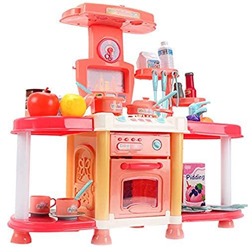 Tastak Zestaw zabawek kuchennych dla dzieci, zestaw zabawek z gotowaniem żywności, warzywami i owocami udawaj, że bawisz się w kuchni Zabawki dla dzieci, zabawki edukacyjne do wczesnej edukacji