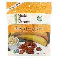 Made in Nature オーガニック ドライバナナ(4oz x 6パックセット)[海外直送品][並行輸入品]