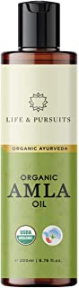 Life & Pursuits Amla Oil for Hair Growth - 6.76 Oz Organic & Natural Hair Oil with Coconut, Castor, and Sesame for Healthy...