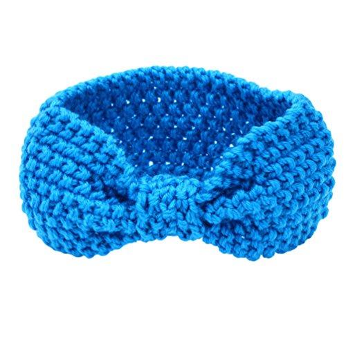 Sukisuki Baby Meisjes Hoofdband Haarband Strikken Gehaakte Warm Haaraccessoires Eén maat Blauw