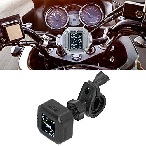USB TPMS, ampliamente Compatible con Motocicletas 2 sensores externos con Sistema de monitoreo de presión de neumáticos a Prueba de Agua IP67 para Exteriores para el hogar