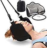 Neck Head Hammock Cervical Traction Device for Neck Pain Relief,Portable Neck Support and Stretcher with Eye Mask Relaxation Sling Provides Physical Therapy for Tensions and Shoulder Pain