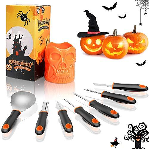 QcoQce Kit Intaglio Zucca Halloween (7 PCS), Set...