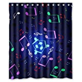 Presock Duschvorhänge, Honey Day House Music Note Waterproof Shower Curtain Gift Choice 60 X 72 Inch Shower Curtains Hooks Included
