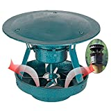 Dach Outdoor Air Extractor, Dacheinrichtung Induktor Fans Chetterlüftungsventilatoren Kamin Rauchabzugspumpen, Schornsteinlüfter Elektrischer Kamin-Fan Flue-Schornsteinabgiftventilator für 220V,Style1