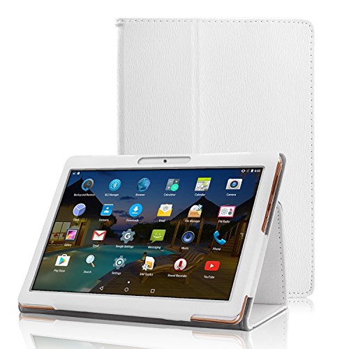 AIJAKO 10.1 Inch Case Cover for Dragon Touch K10 Max10/Hoozo 10.1/Lectrus 10/Yuntab K107 K17/Tagital T10K T10N Plus/LLLtrade 10.1/SANNUO 10.1/LLLCCORP 10/Plum 10/Foren-Tek 10/BATAI 10/Veidoo 10,White