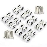 8 piezas de accesorios de puerta corredera de cristal de ducha para colgar pequeñas poleas de ruedas convencionales de cuatro vías