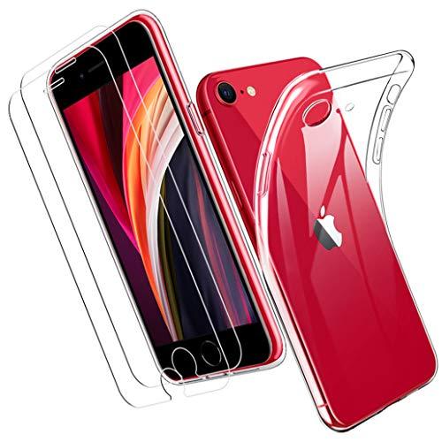 Yoowei para iPhone SE 2020 Funda + [2-Pack] Cristal Templado, Transparente Suave...