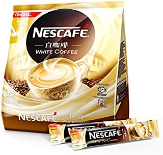 4 Packs Nescafe White Coffee Original With Milk (4 pack x 15 sachets) Imported from Malaysia