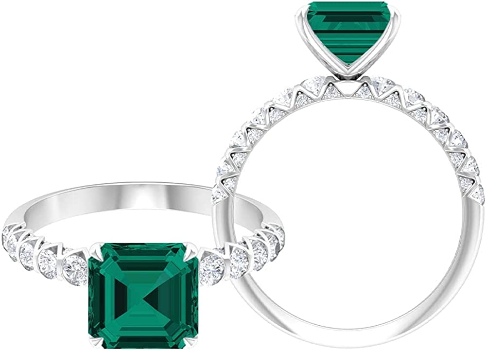 Rosec Jewels Solitaire Engagement Ring with D-VSSI Cr Lab We OFFer at cheap prices 1.8 Cheap mail order specialty store CT