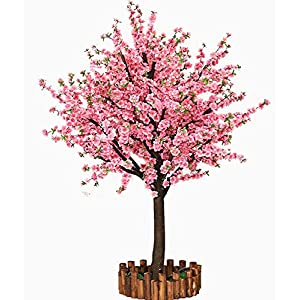 Vicwin-One Artificial Cherry Blossom Trees Japanese Cherry Blossom Pink/Light Pink Fake Sakura Flower Indoor Outdoor Home Office Party (Pink, 6FT Tall/1.8M)