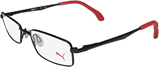 Puma 15426 Mens/Womens Spring Hinges TIGHT-FIT Designed for Weight Lifting/Yoga/Sports Activities Eyeglasses/Glasses