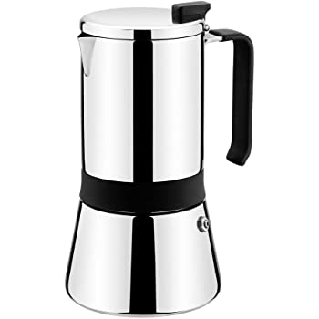 Monix 2 Aroma-Cafetera Italiana, Acero Inoxidable, 18/10, 6 Tazas, 10 cm: Amazon.es: Hogar