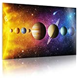 Póster Universo Sistema Solar XXL; Póster Foto Espacio Galaxia; Impresión de Arte de Pared Universo 80 x 45 cm Decoraciones de Pared con Colores Impresionantes (Sistema Solar)