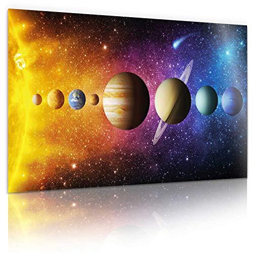 Sonnensystem XXL Universum Poster; Galaxie Weltraum Fotoposter; Weltall Wandbild Kunstdruck 80 x 45 cm Wand-Dekorationen mit eindrucksvollen Farben (Sonnensystem)