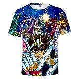 Anime Saint Seiya Hombres/Mujeres Fresco 3D Saint Seiya Impreso Camiseta Estilo Casual T Shirts Streetwear tee Tops-A_5XL