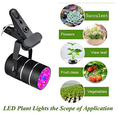 Focos LED, luces de crecimiento de plantas, luces de paisajes interiores, luces de pintura pueden ajustarse 360 ° y clips fuertes para ayudar a las plantas