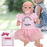 Zhjvihx Blue Eyes Reborn Baby Dolls, Muñeca de niña, Lindo para niños Mayores de 3 años