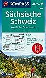 KOMPASS Wanderkarte Sächsische Schweiz, Westliche Oberlausitz: 4in1 Wanderkarte 1:50000 mit Aktiv Guide und Detailkarten inklusive Karte zur offline ... Reiten. (KOMPASS-Wanderkarten, Band 810)