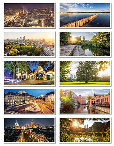 Leipzig Postkarten Set (DIN lang, 21 x 10,5 cm, PK Fotografie, Postkarte, Souvenir)