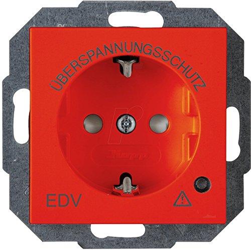 Kopp 1-voudig inzetstuk geaard stopcontact HK 07 rood 951429008