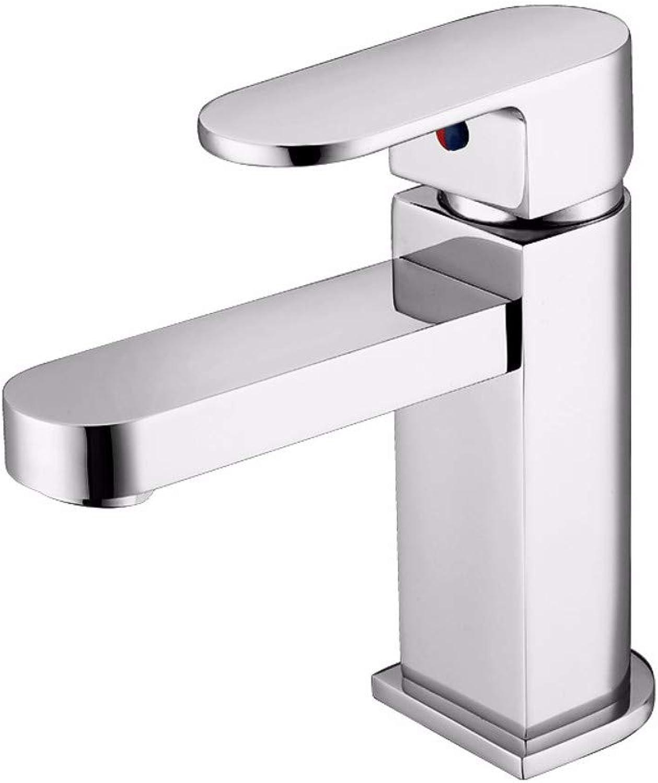 Yuanshuai88-Faucet Faucet all copper basin washbasin single handle single hole hot and cold faucet