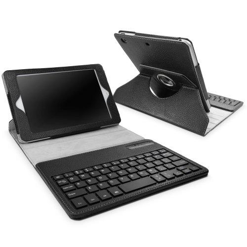 BoxWave Keyboard Buddy Swivel iPad mini 3 Hoesje - Beschermend Vegan Lederen Hoesje met Draaibare Kijkstandaard en Ingebouwd QWERTY Toetsenbord - iPad mini 3 Hoesjes en Hoezen
