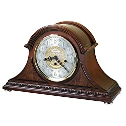 Howard Miller Barrett Mantel Clock 630-200 – Windsor Cherry, Key Wound Single Chime Movement
