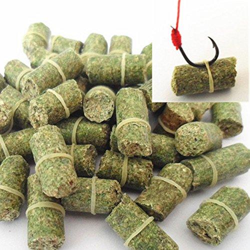 UxradG 60 unidades / bolsa de maíz y césped aroma cebos de carpa, partículas de goma señuelos de pesca, cebos de algas