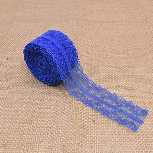 10 / 20m / lot 4cm kant trim stof rustieke bruiloft decoratie handwerk geborduurd naaien gebreide kleding jurk diy benodigdheden, t11 koningsblauw, 10m