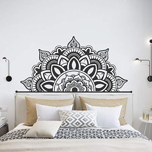 Estilo bohemio Mandala cabecera etiqueta de la pared Half Datura decoración del hogar calcomanías decoración del dormitorio Yoga Studio DIY murales A2 86x42cm