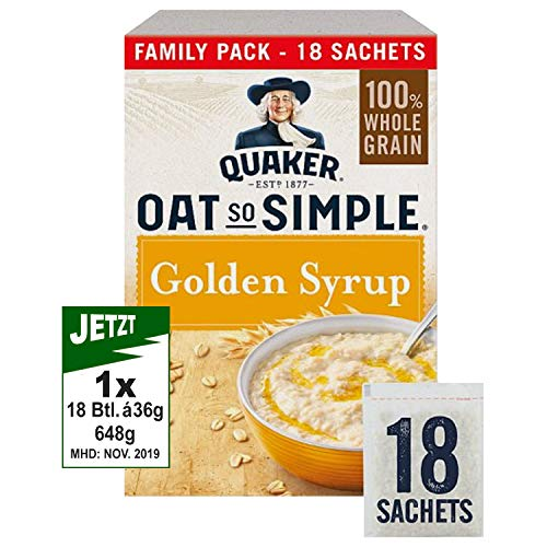 Oat So Simple Golden Syrup 18 x 36g