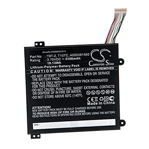 vhbw Batería Recargable Compatible con Toshiba Satellite Click Mini L9W-B-107, Click Mini L9W-B 8.9 Notebook (5100 mAh, 3,75 V, polímero de Litio)
