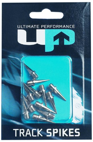 Ultimate Performance Track Spikes - Cordones de Clavos, tamaño 12 mm, Color Plateado
