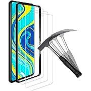 ANEWSIR [3 Pièces] Verre Trempé pour Xiaomi Redmi Note 9S/9 Pro/9 Pro Max,Film Protection écran en Verre trempé[Easy-Install] [sans Bulles d'air] [Dureté 9H]