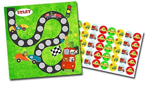 By Diana Belohnungssystem für Kinder Motiv Rennauto / 2 doppelseitige Blätter + Aufkleber