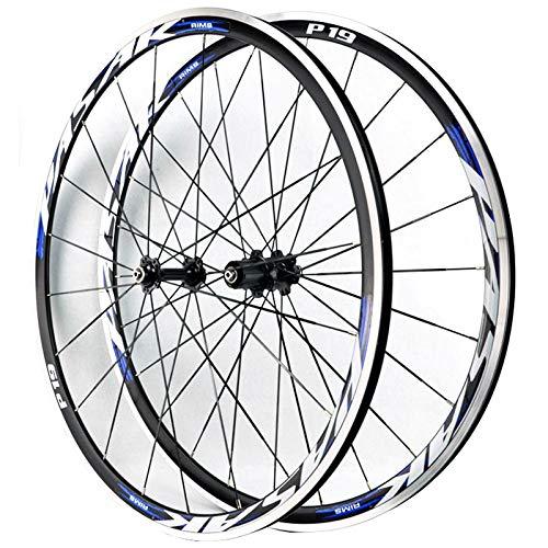 ZFF Rad 700c Rennrad Laufradsatz 30mm Schnellspanner, Vorderrad & Hinterrad Rad Aluminium 7/8/9/10/11 Fach Kassette Nabe C/V-Bremse