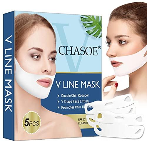 V Maske, V Gesichtsmasken, V line Maske, V Form Maske, Face Lifting Mask, V-Linie Face Chin up Lift für Frauen Beseitigt Schlaffes Hautlifting Straffendes Anti-Aging