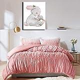 ganlanshu Pintura sin Marco Habitación Infantil Animales de Dibujos Animados Modernos lienzos Impresos Carteles e Impresiones decoración del hogar para niñosZGQ1955 50X70cm